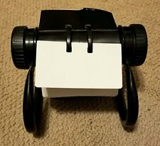 Vtg Rolodex Open Rotary Business Card File With Cards Amp Dividers Black Frame