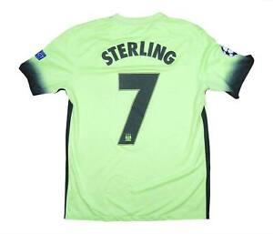 Manchester-City-2015-16-CL-AUTENTICA-TERZA-Camicia-Sterling-7-eccellente-M