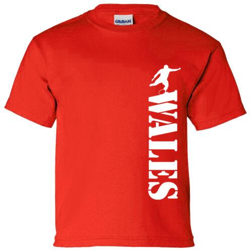 Wales Vertical Kids Rugby T Shirt 6 Nations World Cup England Wales
