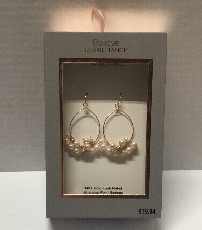 Diamond Pearl Earrings Birthday Gift Simulation Simulation White gold