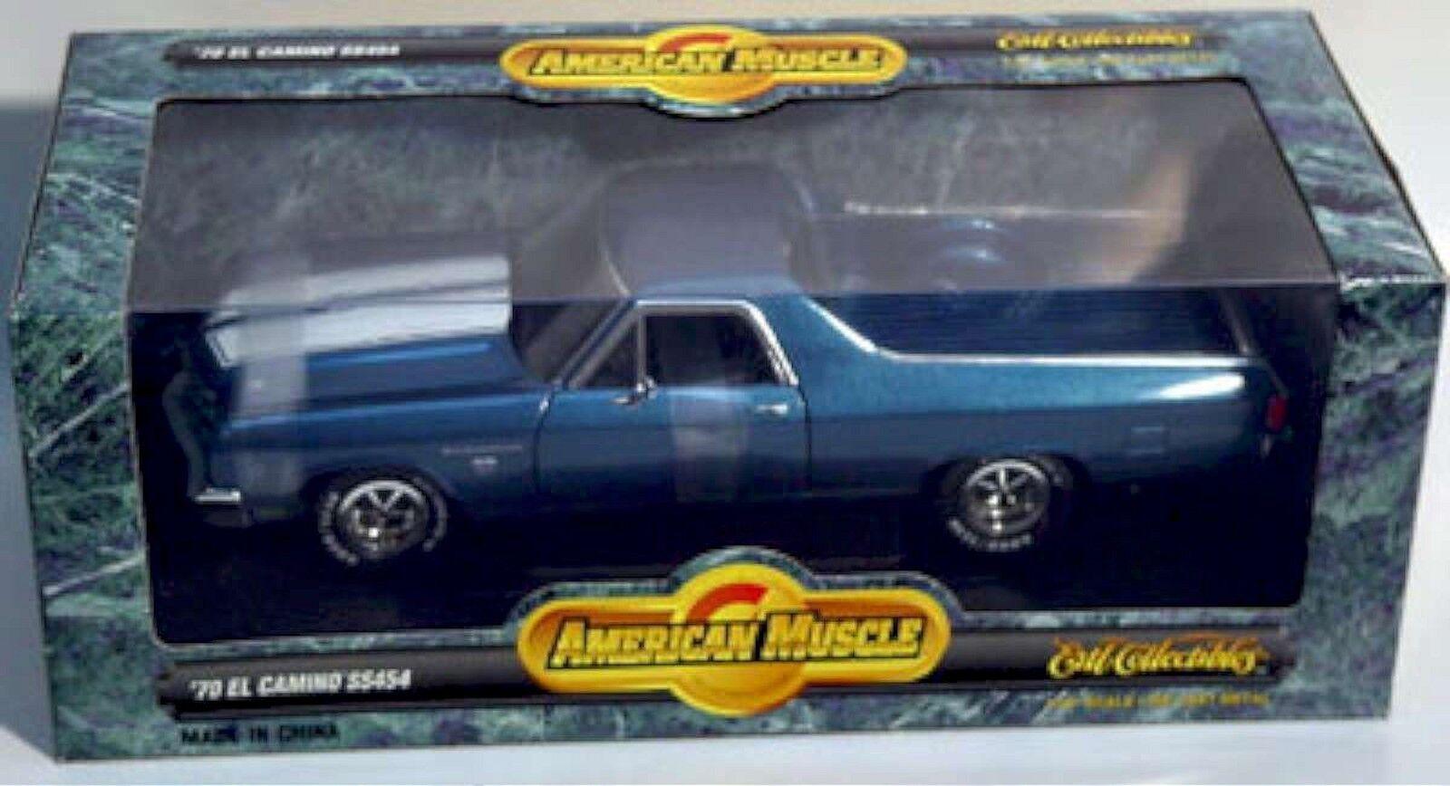 ERTL 1 18 1970 Chevy El Camino SS Fathom voiture  bleue 7263 nouveau American Muscle 70  prix les plus bas