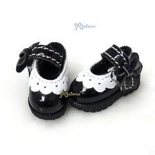 16cm Lati Yellow Basic Doll Bjd Dollfie Mary Jane Strapped Shoes Black