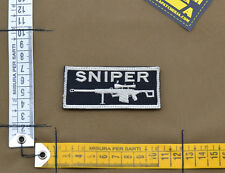 "Ricamata / Embroidered Patch ""Sniper"" Black with VELCRO® brand hook"