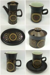 Denby-Arabesque-Vintage-Retro-Stone-Wear-CHOOSE-PIECE-FROM-COFFEE-SET-1-x-P-amp-P