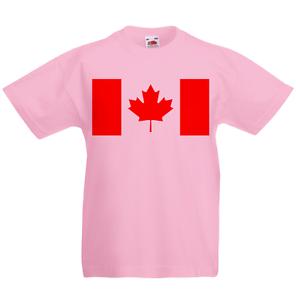 Canada Kid/'s T-Shirt Country Flag Map Top Children Boys Girls Unisex