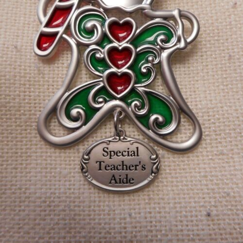 NEW SPECIAL TEACHER/'S AIDE Gingerbread Man Christmas Ornament by Ganz