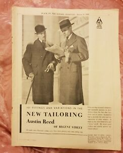Austin Reed Of Regent Street Suits 1933 Advertisement Ebay