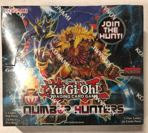 Yugioh Number Hunters 1st Edition 24-count Booster Box Card Game TCG