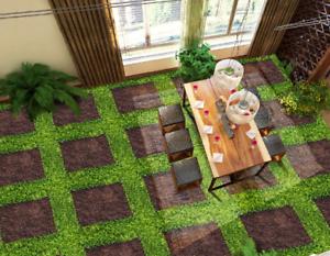 3D Lattice Lawn 7 Floor WallPaper Murals Wall Print Decal AJ WALLPAPER US Lemon