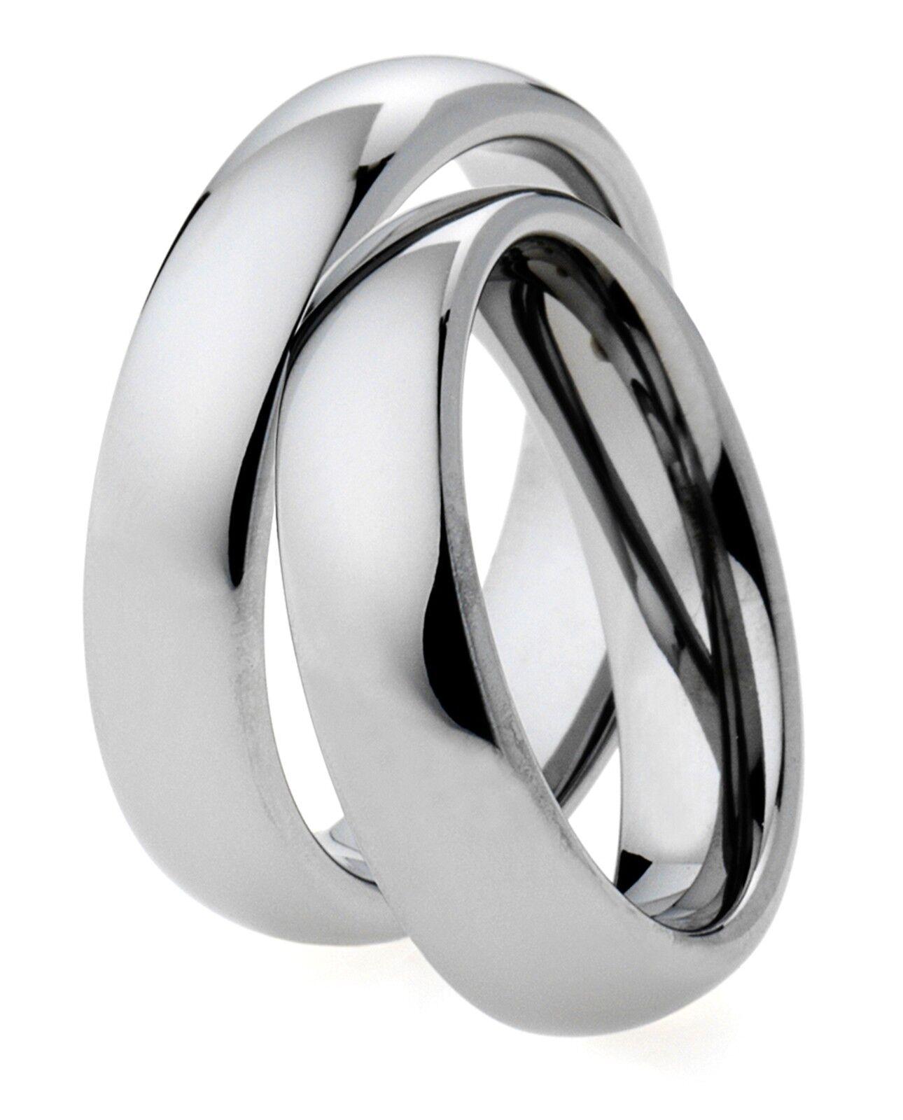 2 Wolfram Anelli di fidanzamento fedi fedi fedi nuziali 6 MM argentoO LUCIDO & INCISIONE a87648