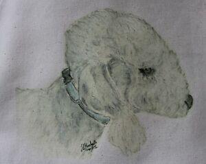 Bedlington-Terrier-Dog-Original-Artwork-on-Canvas-and-Cotton-Bags