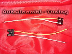 Coppia connettori con fili cablati per lampade lampadine h ebay
