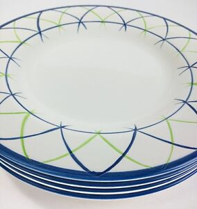 Image Is Loading Tabletops Gallery Cross Hatch Hand Painted Dinner Plates