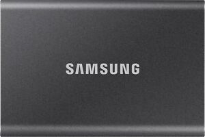 Samsung - T7 1TB External USB 3.2 Gen 2 Portable Solid State Drive with Hardw...