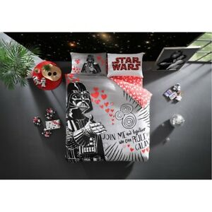Bettwäsche Set Star Wars Baumwolle Renforce 4 Tlg 200x220 Valentines