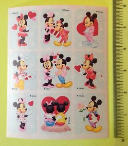 Mickey And Minnie Mouse Stickers.Details About Vtg 80s Mickey Mouse Sticker Sheet Disney Minnie Mouse Love Valentines Day Cute