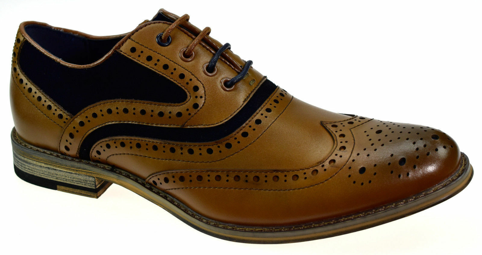 Mens Mens Mens Real Leather Italian Brogue Ethan schuhe Formal Wedding Casual Footwear New  ff9853