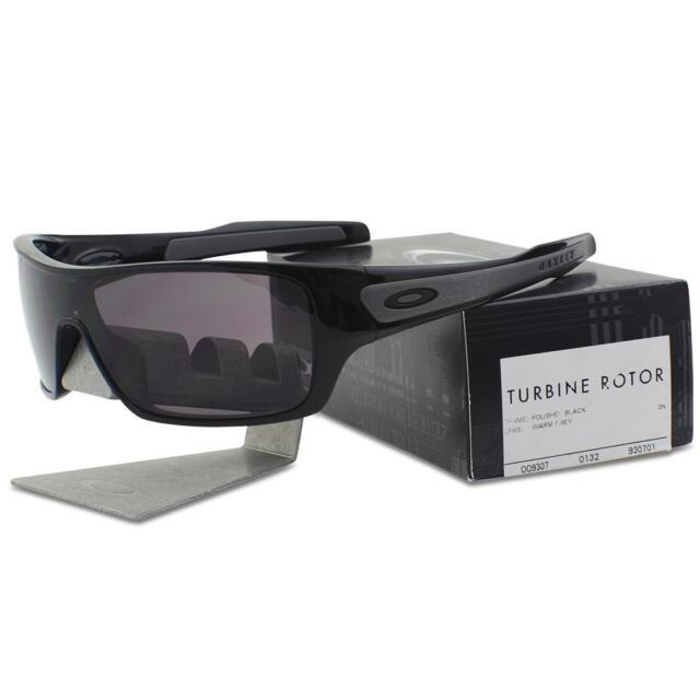 48993392203 Oakley OO 9307-01 Turbine Rotor Polished Black w  Warm Grey Lens Mens  Sunglasses