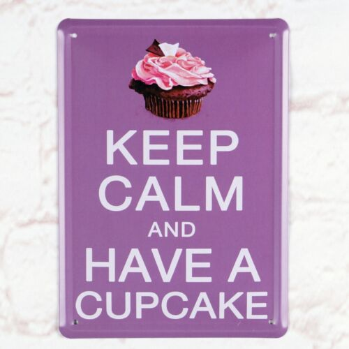 Keep Calm Have A Cupcake Plate Metal Tin Sign Retro Pub Bar  Shop Wall Decor