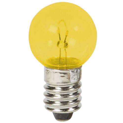 BULB 6V 2.4W E10 YELLOW SCREW TYPE 10mm VINTAGE CYCLE BIKE LAMP DYNAMO LIGHT