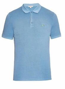algodón azul Sz Bnwt 100 Metal Brit Logo Polo Burberry Cassius S Polo w0qP6H