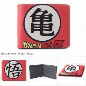 Anime Dragon Ball Z Leather Short Wallet Coin Purse Card Holder Bag #3