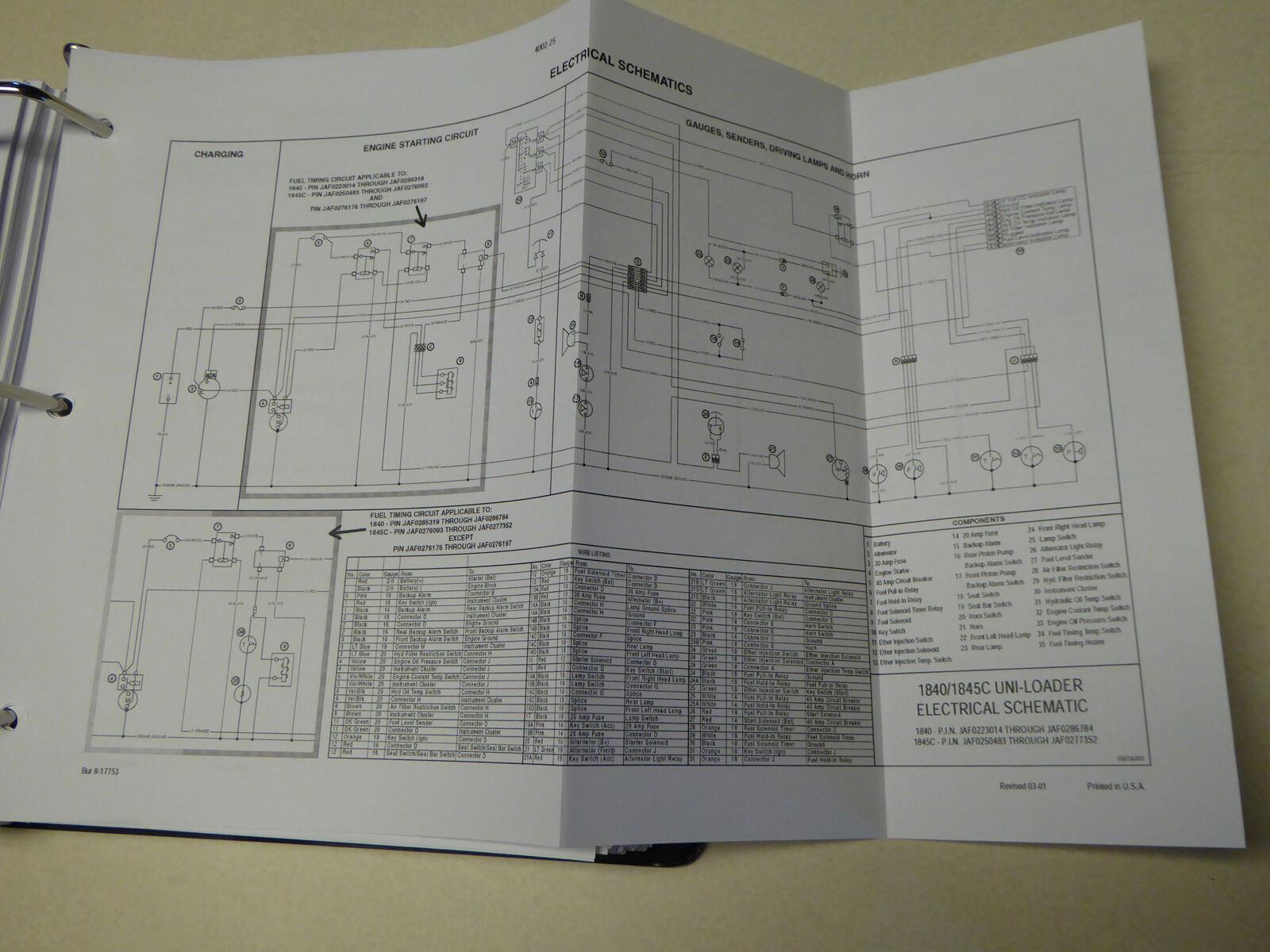Sensational Case 1845C Uni Loader Skid Steer Service Repair Manual For Sale Wiring 101 Taclepimsautoservicenl