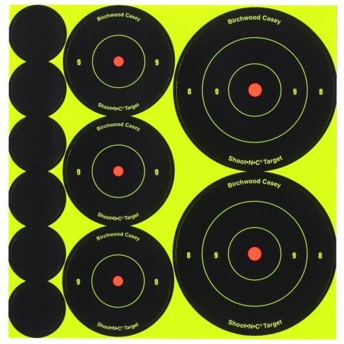 "Birchwood Casey Shoot obiettivi reattiva N C 1/"" 2/"" 3/"" Combo-BERSAGLI"