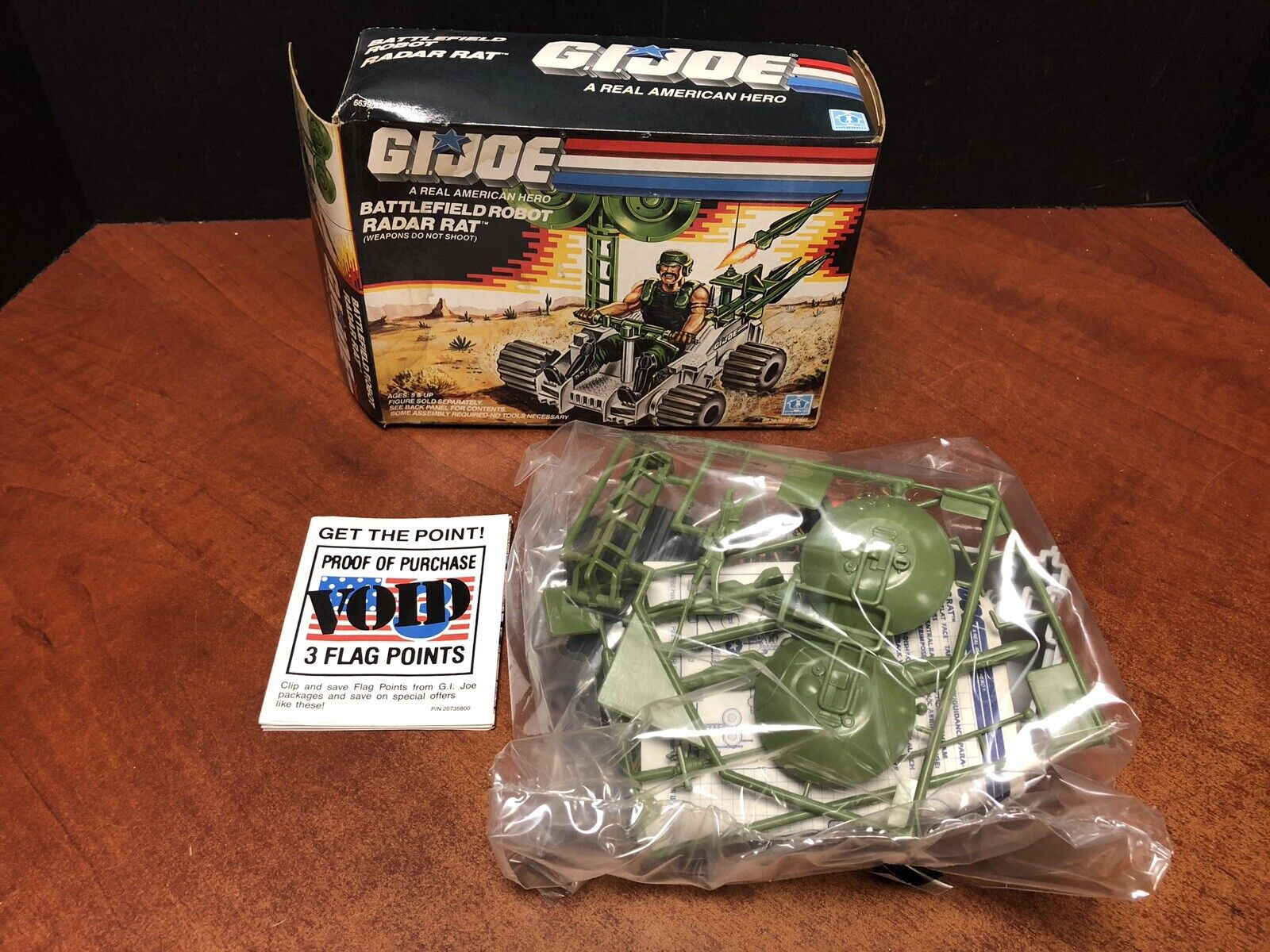 GI Joe 1988 Vintage battlefield Robot Radar Rat With Box Unassembled Dela0425