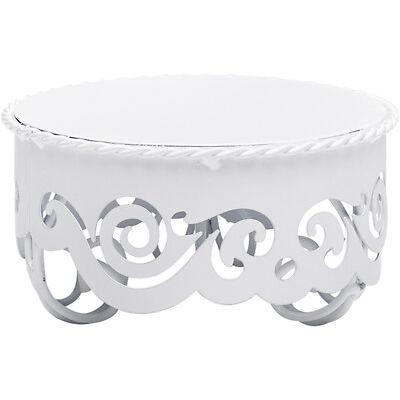 Tortenplatte Kuchenplatte im Vintage Style Weiß 10 / 23 / 30 cm Durchmesser