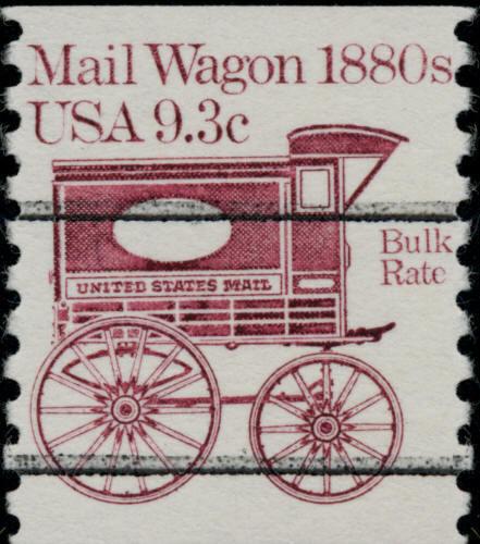 1981 9.3c Mail Wagon Transportation Coil Precancel Scot