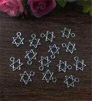 20pcs Star Tibetan Silver fit Pendants bracelet beaded Charms Finding DIY