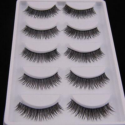 5 Pairs Glamorous Thick Cross Makeup Eye Lashes Extension Beauty False Eyelashes