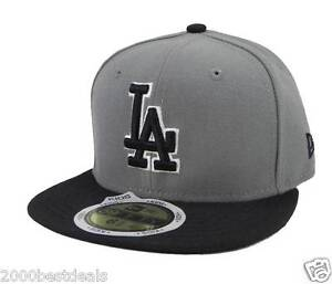 fbde5a80 New Era 59Fifty Kids Cap Los Angeles Dodgers Gray Black MLB Basic ...