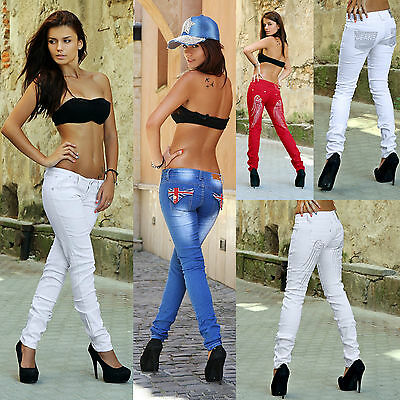 Sexy Pants Tube Ladies Of Jeans Dragon Wings Flag Low-rise Trousers Low Rise