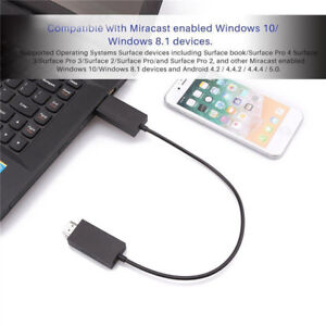 For-Microsoft-Wireless-Display-Adapter-V2-Receiver-HDMI-And-USB-Port-Black-KQ