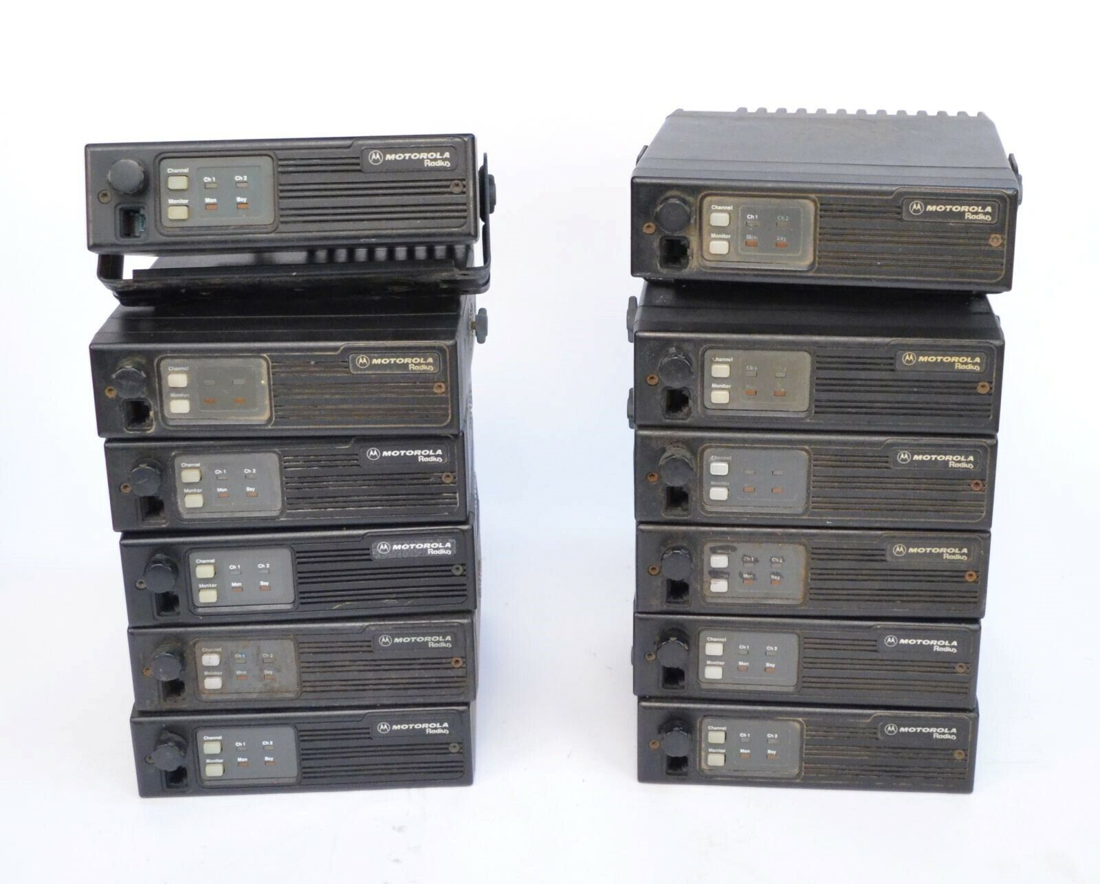 Lot (12) Motorola Radius M100 D43LRA73A5BK VHF 146-174MHz 45W 2-Channel Radio. Available Now for 299.99