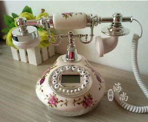 Rotary Phone Antique Vintage Old Fashioned Telephone French Style