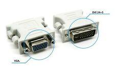 Universal VGA Monitor 15Pins DVI-I (24+5) Male to VGA Female Converter New