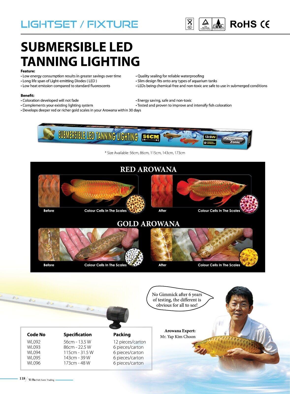 AQUAZONIC AROWANA LED TANNING LIGHT 115 CM 31.5 W SUBMERSIBLE