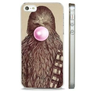 new concept 8b8be eba67 Details about Star Wars Funny Chewbacca CLEAR PHONE CASE COVER fits iPHONE  5 6 7 8 X