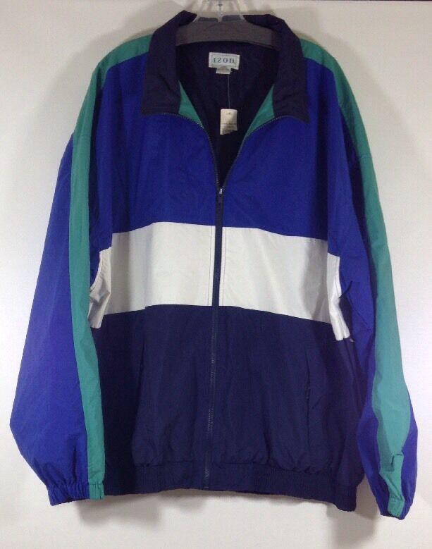 Vintage Izod Sport Nylon Jacket Größe Größe Größe XL Made In