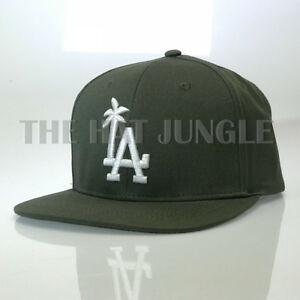 bd1dd0eb Details about LA Palm Tree Snapback Hat Los Angeles Solid Design Flat Bill  Baseball Cap OSFM