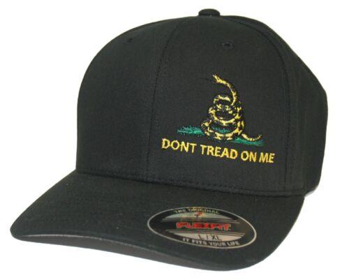 Don/'t Tread On Me Gadsden Flag Flexfit Fitted Hat Cap S//M L//XL XL//XXL