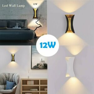12W-LED-Wall-Light-Up-Down-Outdoor-Indoor-Lamp-Sconce-Bar-Porch-Wall-Decor-Light