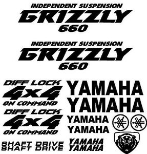 Yamaha Grizzly 660 >> Sticker Decal Kit for Yamaha Grizzly 660 Fender Tank Emblem Graphic