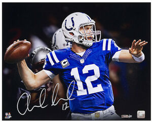 ANDREW-LUCK-Hand-Signed-16-x-20-034-Pocket-034-Photograph-PANINI-LE-7-25