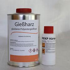 GLASKLARES Gießharz 1 kg + 20 g Härter-crystal clear casting resin