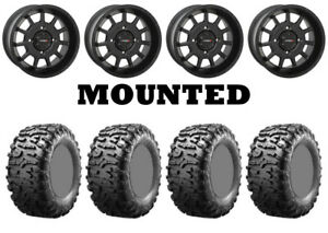 Kit-4-Maxxis-Bighorn-3-0-Tires-29x9-14-on-System-3-ST-5-Matte-Black-Wheels-550