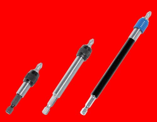 3 x Profi Schnellwechsel Magnet Bithalter Für Schraubendreher Bits //50+100+150mm